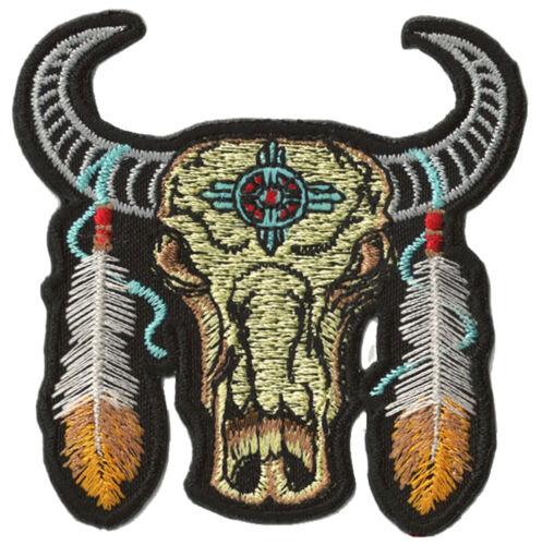 Patche écusson Buffalo Indien thermocollant patch DIY couture brodé