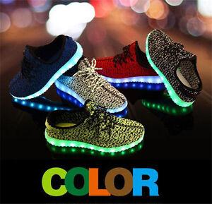 7 Colors Women Men s Light Up LED Shoes Luminous Casual Sneakers ... 75c2feaa3e