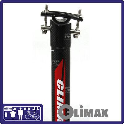 UNO SP 617 Alloy SB 0 Road MTB Seatpost Seat Post 0 Deg Black 31.6 X 350