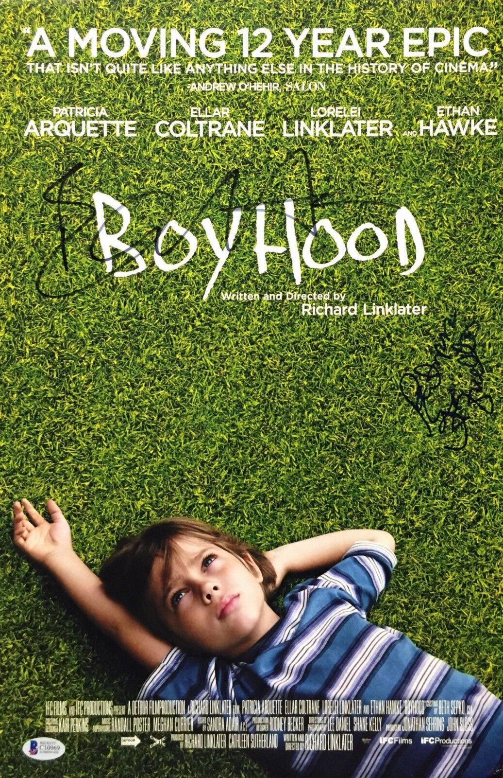 Ethan Hawke And Patricia Arquette Signed Boyhood 12x18 Photo BAS C10969
