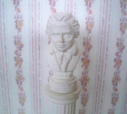 * busto Beethoven * casa de muñecas en miniatura 02 1:12 nuevo