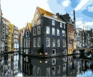Van-Go Paint-By-Number Kit Amsterdam Canal