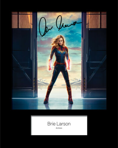 BRIE LARSON #3 Signed 10x8 Mounted Photo Print FREE DELIVERY REPRINT