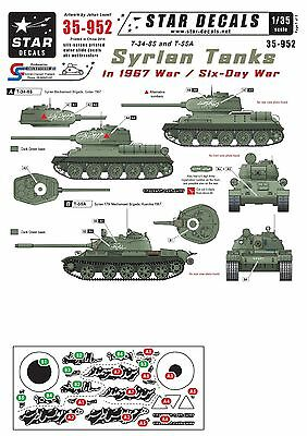 Star Decals 1/35 Syrian Tanks in 1967 Six-Day War T-34-85 T-55A 35952