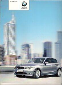 BMW 1-Series 2005 UK Market Sales Brochure 116i 118i 120i 118d 120d ...