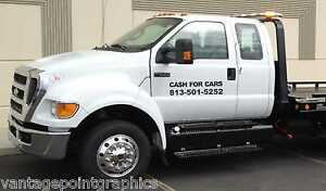 Cash-for-Cars-decal-for-Trucks-Tow-Trucks-Wreckers-Rollbacks-Etc