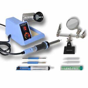 vidaXL Station de Soudage Analogique 48W avec Accessoire Fer à Souder Soudure H