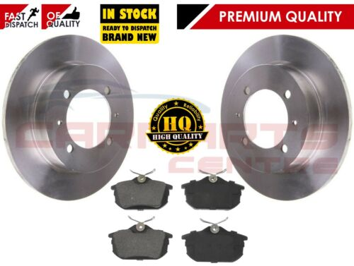 FOR VOLVO S40 V40 REAR BRAKE 260mm SOLID DISCS AND BRAKE PADS 1996-2004