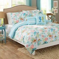 Beach Themed Bedding Gifts Bedspread Comforter Pillow Shams Set Full Queen King