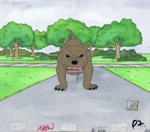 BEAVIS-amp-BUTTHEAD-Animation-Art-Original-Production-Cel-Cell-MTV-1990-039-s-Dog