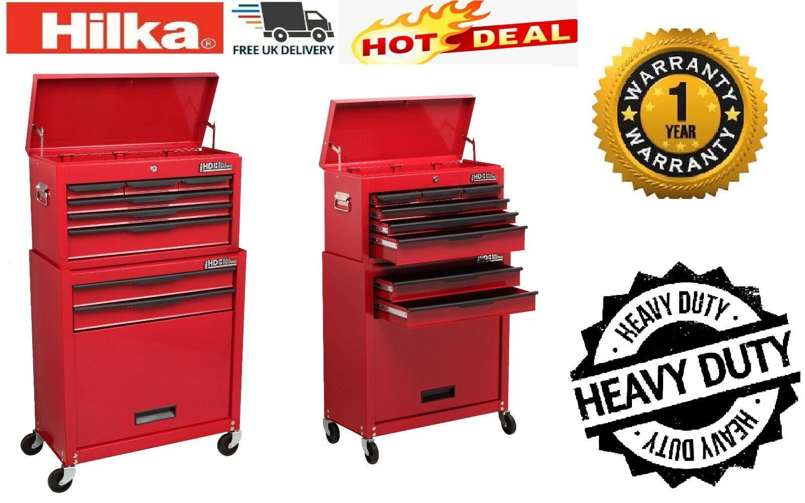 Hilka Heavy Duty 3 Drawer Add-On Tool Chest Bbs Red Craft Steel Type Storage