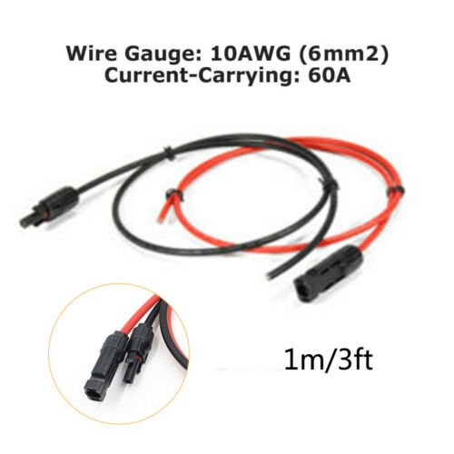 1 Pair 10//12//14AWG 33~57A Cable Connector Male Female Solar Panel Wire Extension