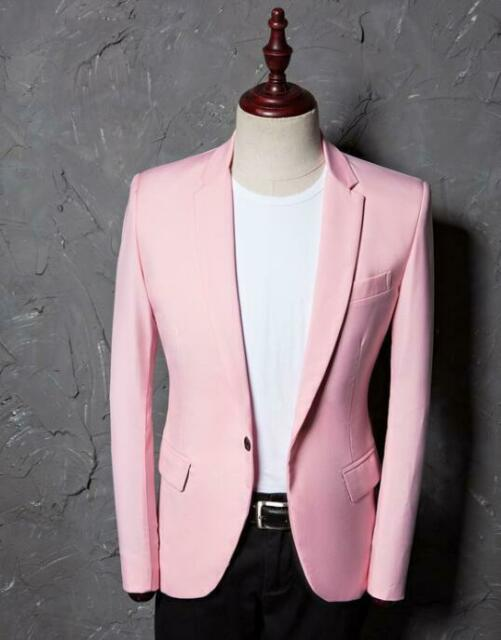 Mens Retro Suit Blazer Linen Bar Coats Jackets Dress Formal Lapel Collar 5Color