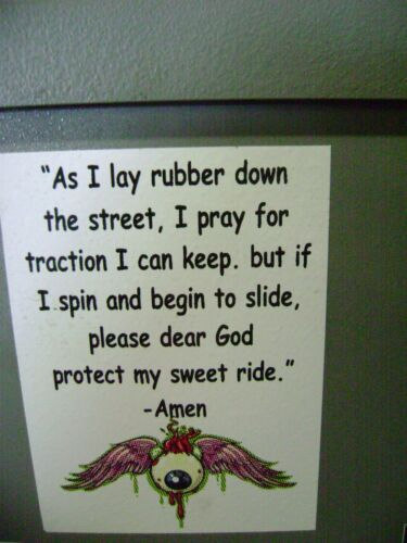Rat Rods Protect my ride Prayer sticker for Hot rods Gasser