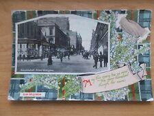 VINTAGE POSTCARD - COLQUHOUN CLAN TARTAN - WITH PICTURE OF SAUCHIEHALL STREET