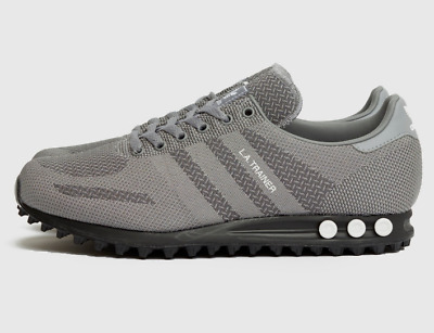 Adidas LA Trainer Mens Shoes Grey Black White Limited Edition Sneakers All Sizes   eBay