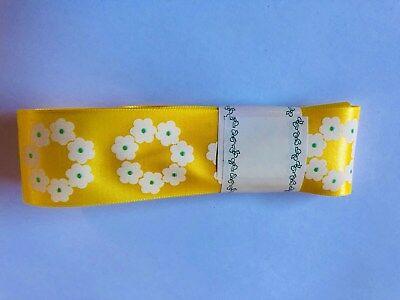 Sopp Geschenk Gelb Blumen Schleifen Band Bordüre Deko 2 m x 4 cm