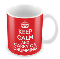 KEEP CALM and Carry on Drumming - Coffee Cup Gift Idea present