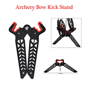 Archery-Bow-Kick-Stand-Compound-Bow-Stand-Rack-Holder-Legs-for-Shooting-Black