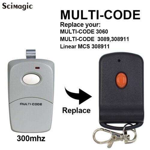 3089 Multi-code Multicode 308911 Linear MCS308911 300mhz Remote Control command