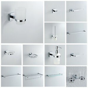Image Is Loading Contemporary Bathroom Accessory Bath Hardware  Chrome Sliver Color
