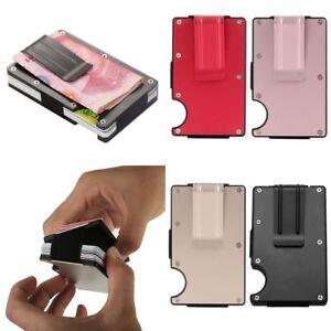 Slim-Money-Clip-Credit-Card-Holder-RFID-Blocking-Stainless-Steel-Wallet