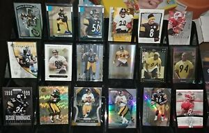 Steelers lot RC serial # Refractor Lawrence Timmons Heath Miller Larry Foote