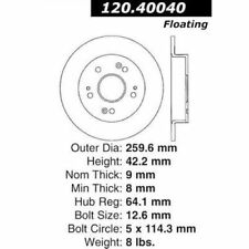 Centric Parts 120.40040 Premium Brake Rotor with E-Coating