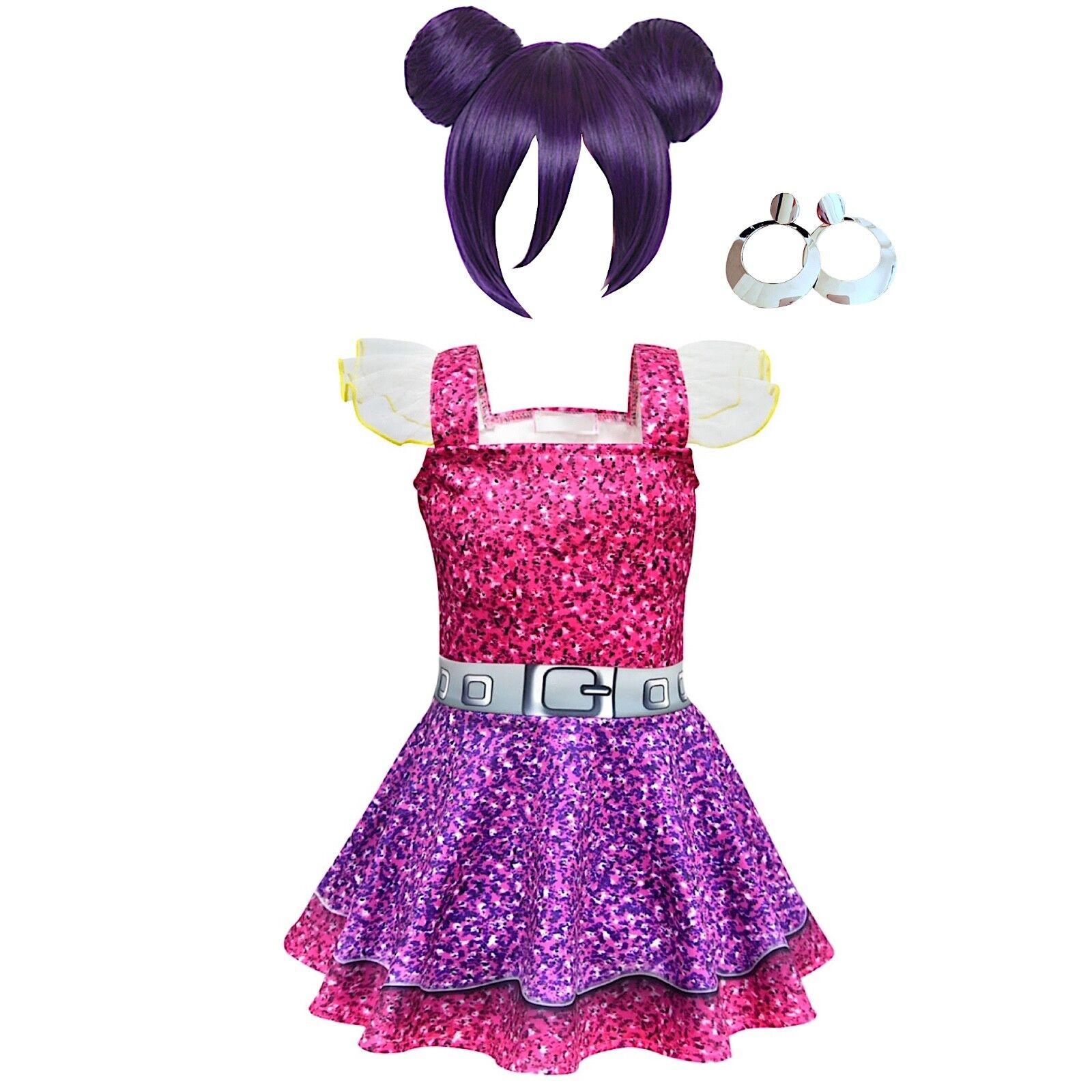 Miraculous Ladybug kid Girl Fancy Dress Cosplay  Bag ACCESSORI 4 PEZZI giochi