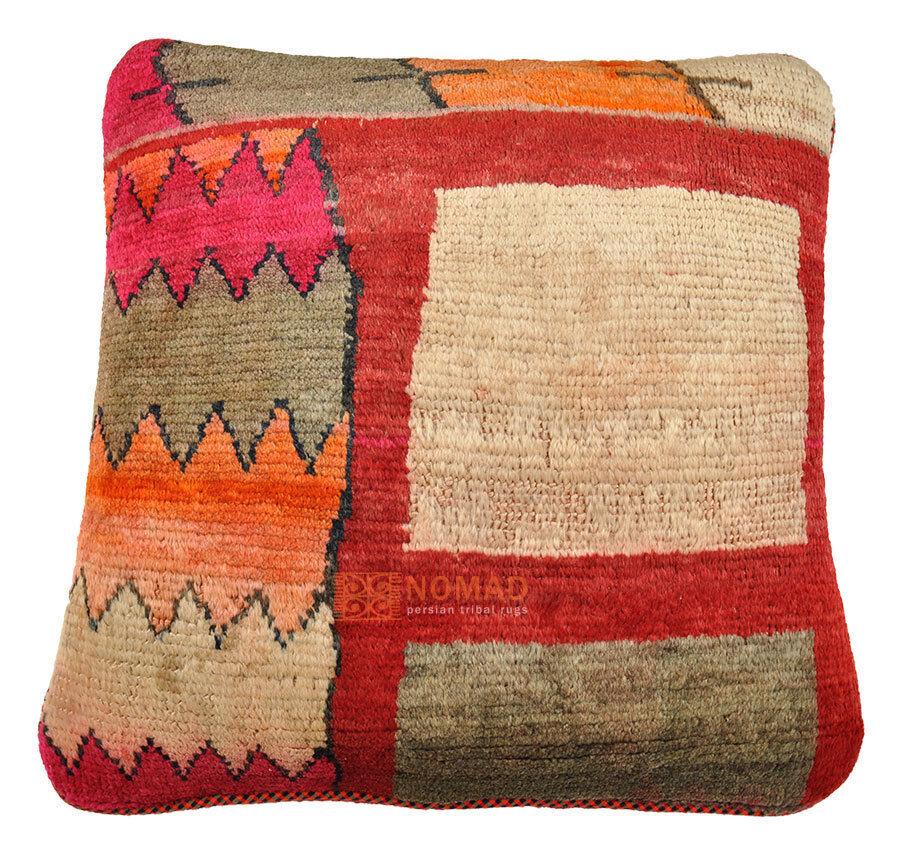 Orient Gabbeh tapis coussin taie d'oreiller 50 x 50 cm handmade kilim Coussin