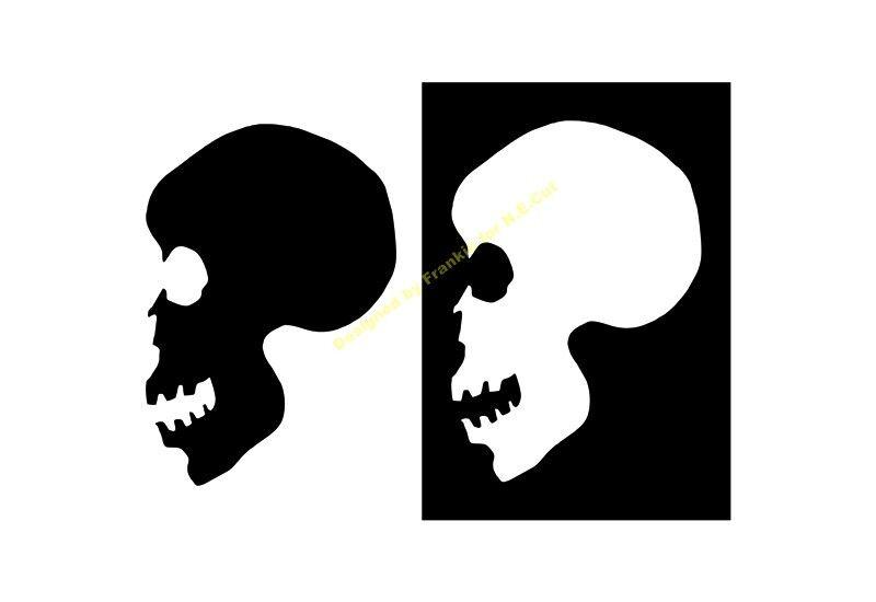 HALLOWEEN STENCIL Skull A5 A4 A3 A2 A1 A0 350 micron HALL085