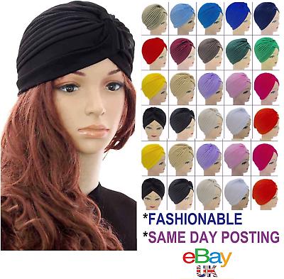 2019 Ultimo Disegno Turbante Cappello Hijab Fascia Bandana Wrap Fascia Per Capelli Band Plain Cappello Chemio Perdita Di Capelli-mostra Il Titolo Originale