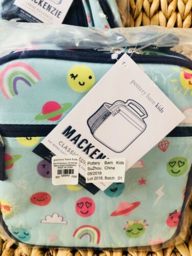 Pottery Barn Kids Large Backpack Funny Faces Lunchbox Water Bottle No Mono New