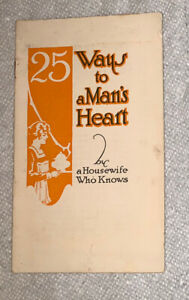 Vintage-1920s-A-1-Sauce-25-Ways-To-A-Man-s-Heart-Recipes-Advertising-Booklet