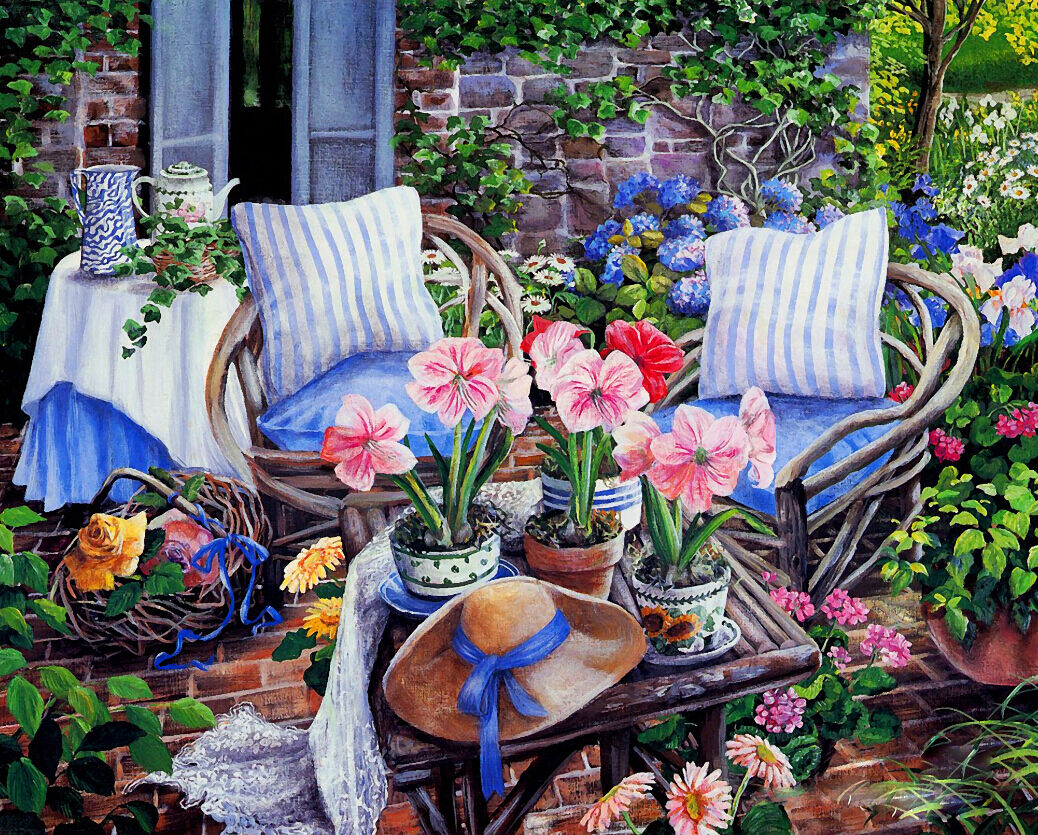 3D Courtyard Flowers 46 Wall Paper Wall Print Decal Wall Deco Wall Indoor Murals
