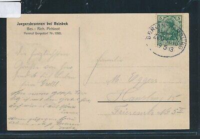 35056) Bahnpost Ovalstempel Berlin - Hamburg Zug 4848, Ak Reinbek 1913