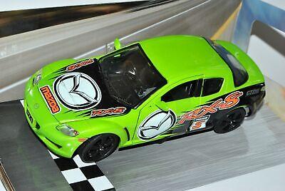 Mazda RX-8 Tuning Grün 2003-2012 1//24 Motormax Modell Auto mit oder ohne indiv..