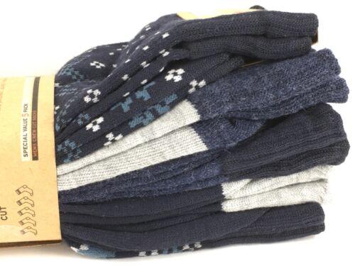 $36 MSRP 10/% 5 Pack Men's LEVI'S Dark Stripes Crew Socks