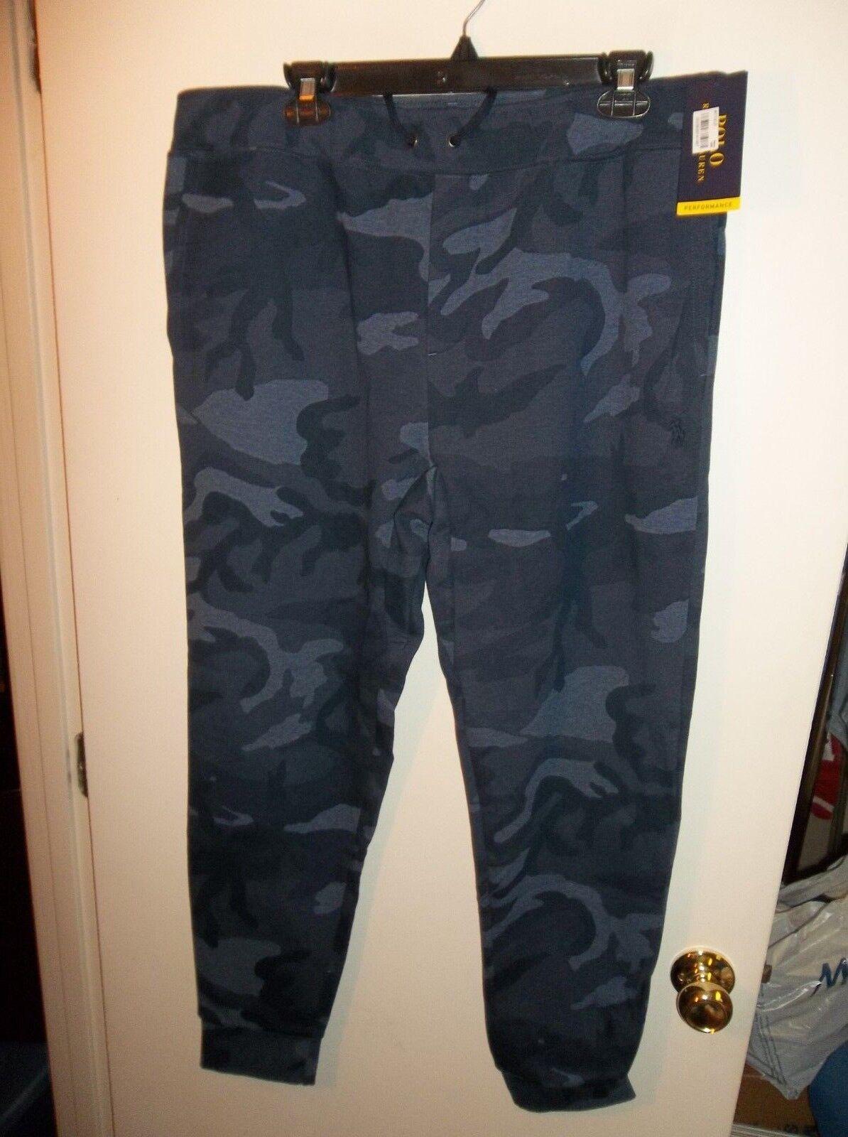 NWT  Herren XL Polo Ralph Lauren Blau Camo Jogger Sweatpants New 125
