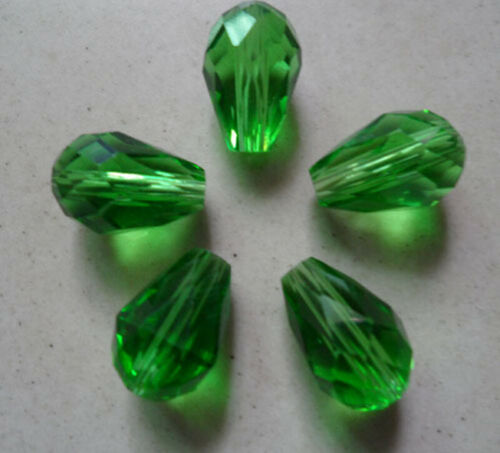 Hot 100-1000 Pcs Exquisite  8*12mm Teardrop Crystal Beads Select Color