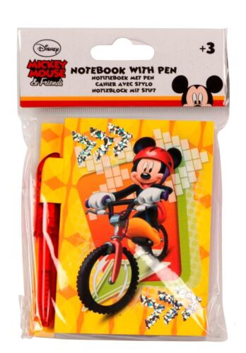 NEU Disney Notizblock 100Blatt mit Stift 2tlg