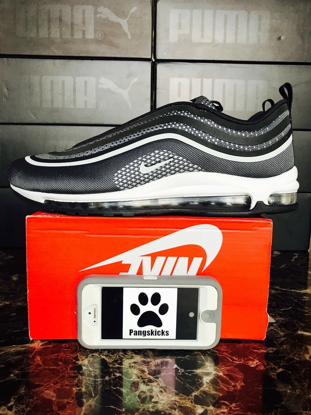 Nike Air Max 97 Ultra '17 Black Anthracite 918356-001 Size 11.5