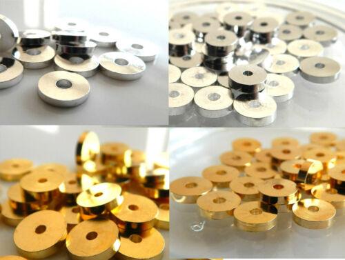 50 Scheiben Perlen 8mm Metall gold Donuts Spacer Metallscheiben 8x2mm