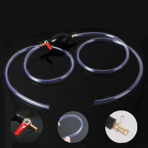 Auto Hand Ball Primer Pumpe In-Line Mit Ventil 2m 10mm Benzin Schlauch Zubehör
