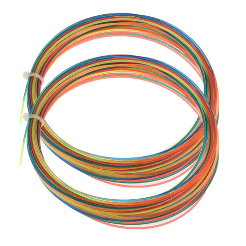 2pcs 12m 1.3mm High Elastic Tennis Racket Racquet String Thread Line Reel