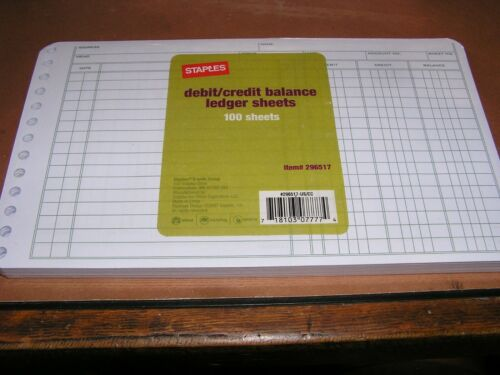 Forms & Record Keeping Debit/Ledger Page Refills Staples 296517 ...