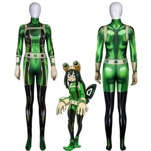 My Hero Academia Tsuyu Asui Cosplay Jumpsuit Women Costume Bodysuits Zentai #HN