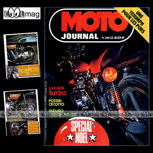 MOTO-JOURNAL-N-245-KAWASAKI-TURBO-BABER-BIKES-039-75-POSTER-JOHNNY-CECOTTO