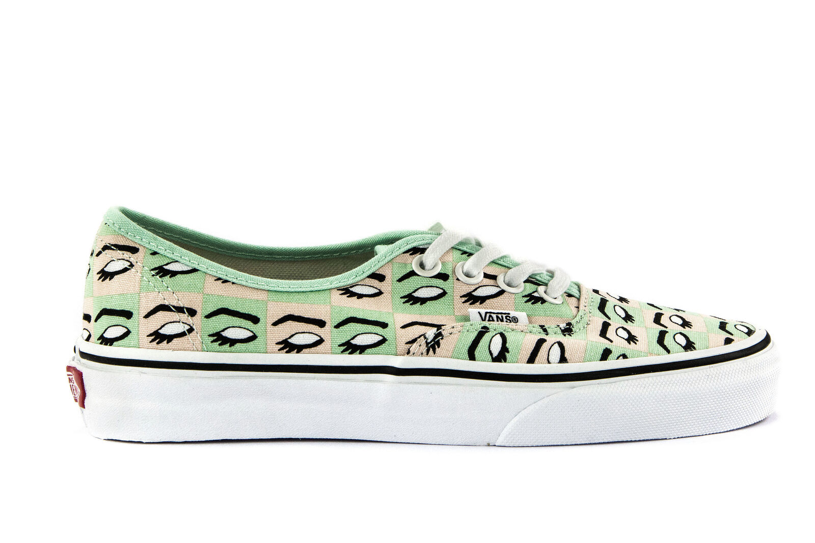VANS Womens Shoes Lace-Up Sneakers AUTHENTIC (KENDRA DANDY) White Printed Canvas