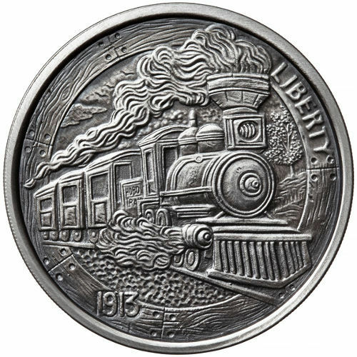 Hobo Nickel Series #2-1 oz .999 Antiqued Coin Antique Train Silver Round